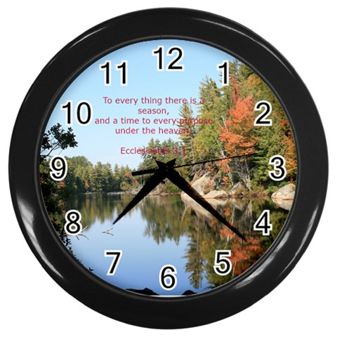 Mt Pond Ny By Eileen   Wall Clock (black)   Vj52vrxqe768   Www Artscow Com Front