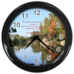 mt pond NY - Wall Clock (Black)