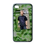 Green iPhone - Apple iPhone 4 Case (Black)