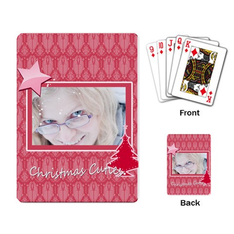 Xmas By May   Playing Cards Single Design (rectangle)   Ny4fsv7li31e   Www Artscow Com Back