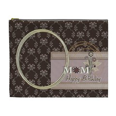 Happy Birthday Mom By Angel   Cosmetic Bag (xl)   D3syxwsnflzo   Www Artscow Com Front