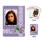 Shades of Violet Playing Cards - Playing Cards Single Design