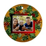 Christmas Berries Round Ornament (1 Sided) - Ornament (Round)