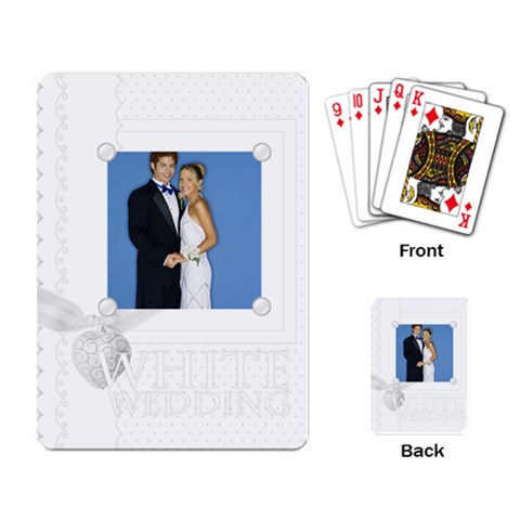 White Wedding By Joely   Playing Cards Single Design   Cl652vi22emi   Www Artscow Com Back