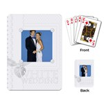 white wedding - Playing Cards Single Design