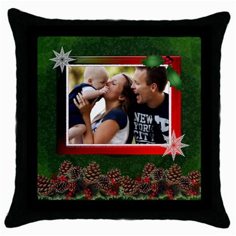 Christmas Throw Pillow Case By Lil    Throw Pillow Case (black)   Jhcsx8f2sbiy   Www Artscow Com Front