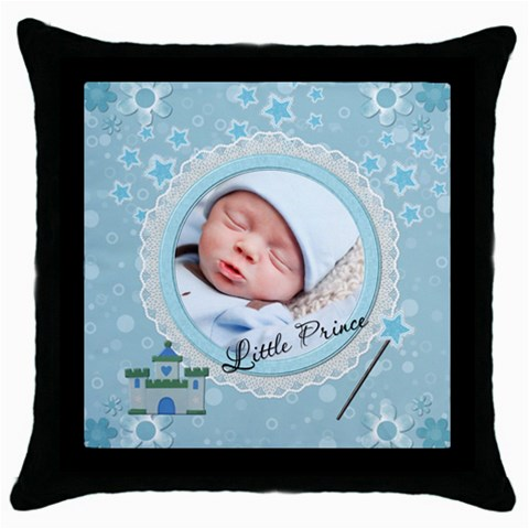 Little Prince Throw Pillow Case By Lil    Throw Pillow Case (black)   Oq68qlatcogs   Www Artscow Com Front
