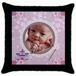 Little Princess Throw Pillow Case - Throw Pillow Case (Black)