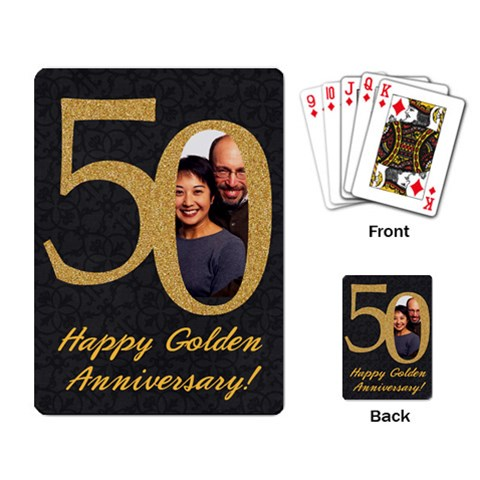 50th Anniversary/wedding Playing Cards By Mikki   Playing Cards Single Design   91sluevtxc1z   Www Artscow Com Back