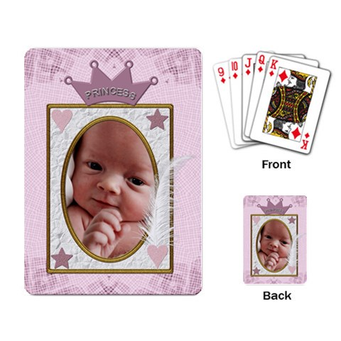 Princess Playing Cards By Lil    Playing Cards Single Design   Ebc1idgyu3mx   Www Artscow Com Back