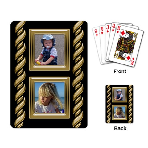 Black And Gold Playing Cards By Deborah   Playing Cards Single Design (rectangle)   Bq6hj6v3duux   Www Artscow Com Back