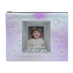 Love Frame By Claire Mcallen   Cosmetic Bag (xl)   Dt10hd0lat02   Www Artscow Com Front