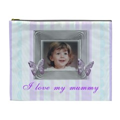 Mommys Angel Stripe Cosmetic Bag By Claire Mcallen   Cosmetic Bag (xl)   L7z9fknr36x1   Www Artscow Com Front