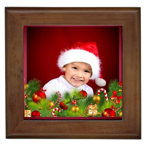 Christmas Tile 1 By Deborah   Framed Tile   Aqhtclg60qpb   Www Artscow Com Front