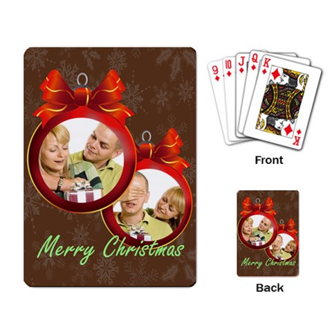 Merry Christmas By May   Playing Cards Single Design (rectangle)   Zjlkxhsiodbp   Www Artscow Com Back