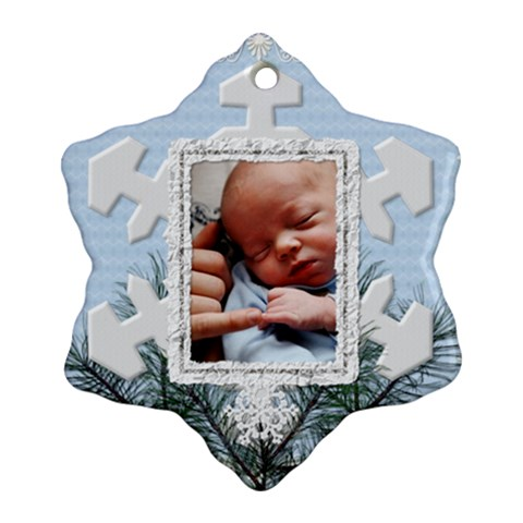 Christmas Snowflake Ornament (1 Sided) By Lil Front