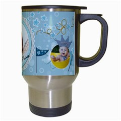Little Prince Travel Mug By Lil    Travel Mug (white)   Nl7qz0bnbia0   Www Artscow Com Right