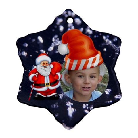 Santa By Elena Petrova   Ornament (snowflake)   Pycdirdbdkuk   Www Artscow Com Front