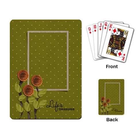 Playing Cards: Life By Jennyl   Playing Cards Single Design   Ixg97iy2vlrc   Www Artscow Com Back