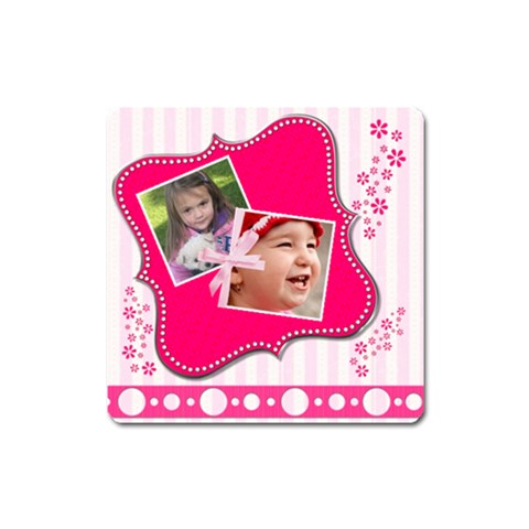 Little Princess   Magnet (square) #1 By Picklestar Scraps   Magnet (square)   Siwq92hex6it   Www Artscow Com Front