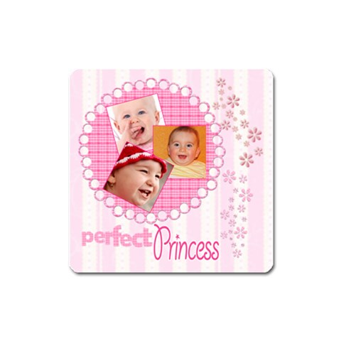 Little Princess   Magnet (square) #2 By Picklestar Scraps   Magnet (square)   Frtod14ppz4w   Www Artscow Com Front