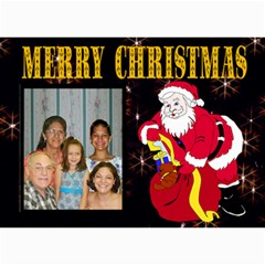 Family Christmas Card By Kim Blair   5  X 7  Photo Cards   6j9f6gnid41x   Www Artscow Com 7 x5 Photo Card - 4