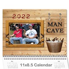 Man Cave 12 Month Calendar By Lil    Wall Calendar 11  X 8 5  (12 Months)   3ex76paepurb   Www Artscow Com Cover