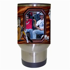 Man Cave Travel Mug By Lil    Travel Mug (white)   9omshpq4lrfe   Www Artscow Com Center