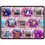 Frosty Fun Extra Large Christmas Fleece Blanket - Fleece Blanket (Large)