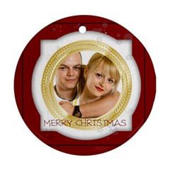 Xmas By May   Round Ornament (two Sides)   1kjr6xyfh8ii   Www Artscow Com Back