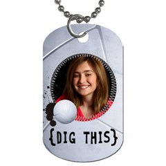 Volleyball  Dog Tag (2 Sides) By Mikki   Dog Tag (two Sides)   Yl8gcldh2v6r   Www Artscow Com Back