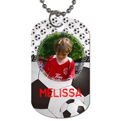 Soccer  Dog Tag (2 Sides) By Mikki   Dog Tag (two Sides)   M91gjaj5rbq0   Www Artscow Com Back