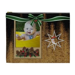 Christmas Design Xl Cosmetic Bag By Lil    Cosmetic Bag (xl)   Zs09hk21wukk   Www Artscow Com Front