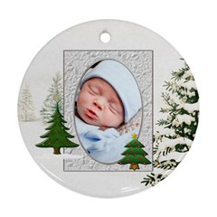 Christmas Tree Round Ornament (2 Sides) By Lil    Round Ornament (two Sides)   K2e7gvtx3pli   Www Artscow Com Front
