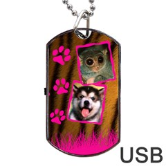 Jungle Usb 2 Sides By Carmensita   Dog Tag Usb Flash (two Sides)   Emu7rliy8bpm   Www Artscow Com Back