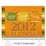 guilliams family calander 2012 - Wall Calendar 11  x 8.5  (12-Months)