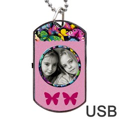 Caroline Usb 2 Sides By Carmensita   Dog Tag Usb Flash (two Sides)   W7r0v3bcru0g   Www Artscow Com Front