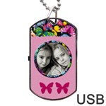 Caroline usb 2 sides - Dog Tag USB Flash (Two Sides)