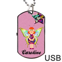 Caroline Usb 2 Sides By Carmensita   Dog Tag Usb Flash (two Sides)   W7r0v3bcru0g   Www Artscow Com Back