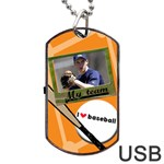 Baseball usb 2 sides - Dog Tag USB Flash (Two Sides)