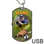 Baseball USB one side - Dog Tag USB Flash (One Side)