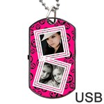 Pretty skull USB one side - Dog Tag USB Flash (One Side)