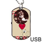 Love USB one side - Dog Tag USB Flash (One Side)