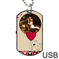 Love  Usb 2 Sides By Carmensita   Dog Tag Usb Flash (two Sides)   Kgq8xxfotklu   Www Artscow Com Front