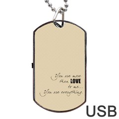 Love  Usb 2 Sides By Carmensita   Dog Tag Usb Flash (two Sides)   Kgq8xxfotklu   Www Artscow Com Back