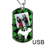 Ghost USB one side - Dog Tag USB Flash (One Side)