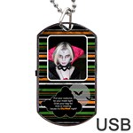 halloween  usb 2 sides - Dog Tag USB Flash (Two Sides)