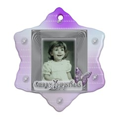 Purple Butterfly Bubble Christmas Tree Ornament By Claire Mcallen   Snowflake Ornament (two Sides)   H6bc2soql9af   Www Artscow Com Back