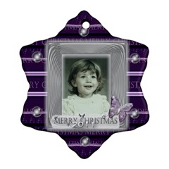Purple butterfly glass frame bubble christmas by claire mcallen Front