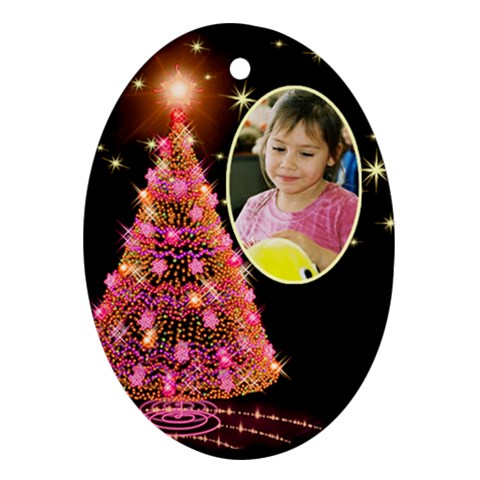 Candy Christmas Tree Ornament By Deborah   Ornament (oval)   58pwiobatqv2   Www Artscow Com Front